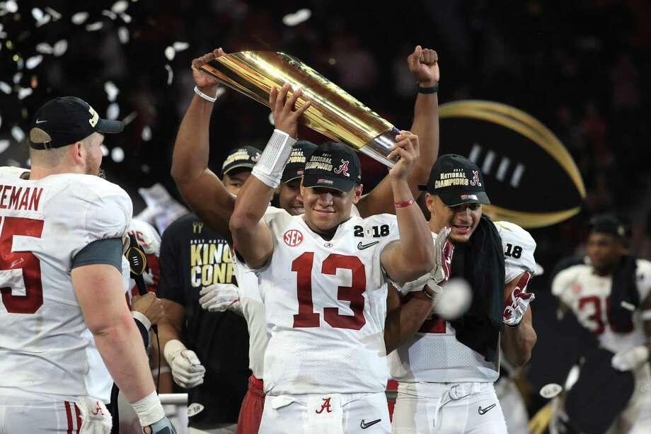 BETTING ODDS ON 2018-19 COLLEGE FOOTBALL PLAYOFF CHAMPIONAlabama6-to-1 Photo: Mike Ehrmann, Staff / 2018 Getty Images