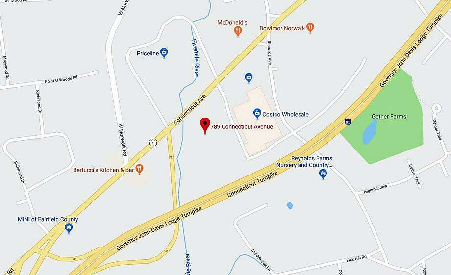 Two people were killed in a two-vehicle crash on Connecticut Avenue (Route 1) in Norwalk on Monday, Jan. 8, 2018. Photo: Google Maps