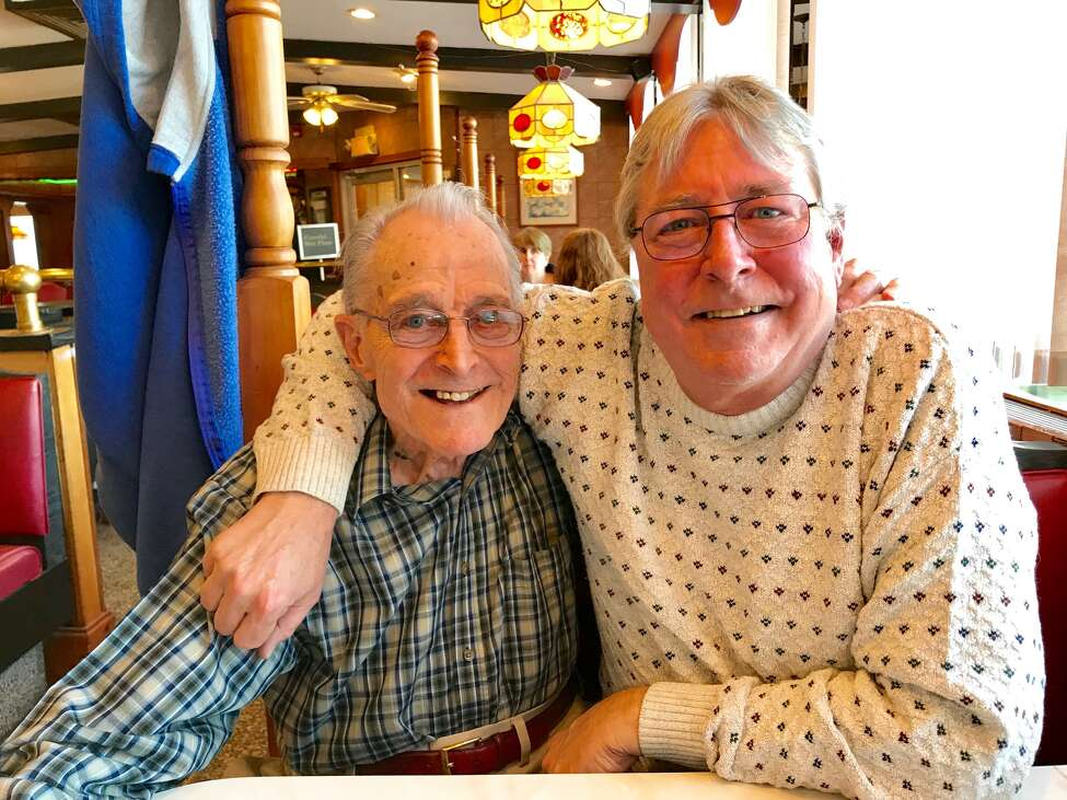 Don and Steve Black at the Route 7 Diner in Latham (Paul Grondahl / Special to the Times Union)