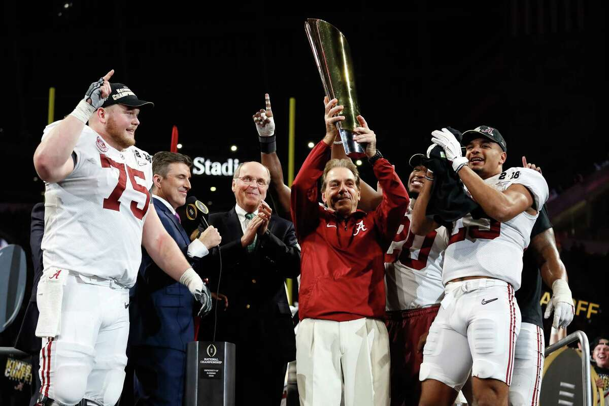 2018 AP TOP 25 PRESEASON POLL  1. Alabama (42 first-place votes)  SEC  Record: 13-1