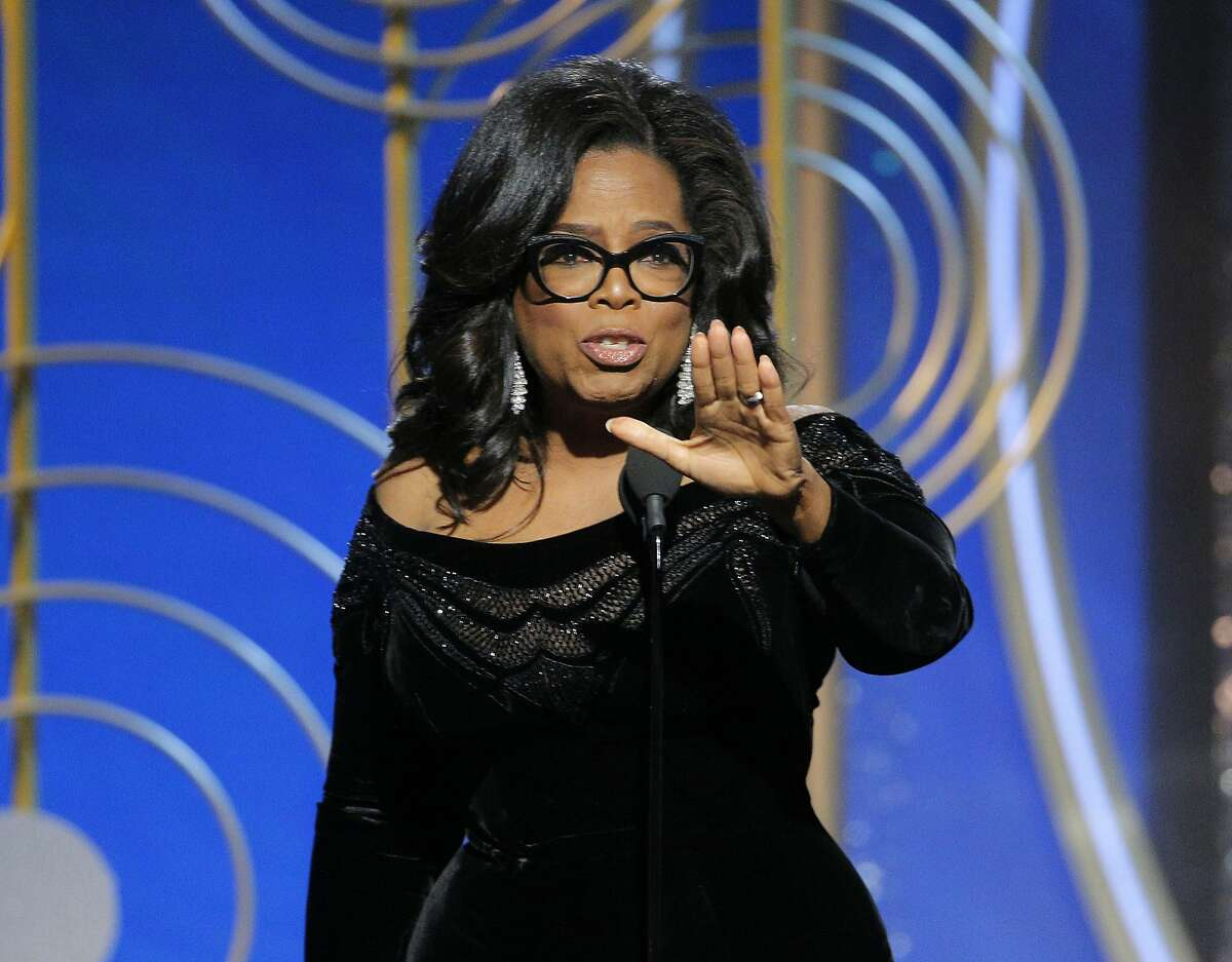 Oprah Winfrey, pictured here at the 75th Golden Globe Awards, pledged $500,000 to the march.