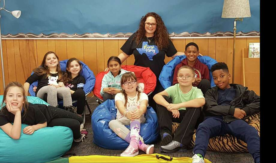 Moore Elementary counselor Jennifer D. Nichols has been meeting with students from grades 2-5 in post-Hurricane Harvey small group settings to help them deal with everyday emotions. Nichols said they're learning tools to equip them to better deal with future trauma and the trauma they've already experienced. Photo: Courtesy Moore Elementary