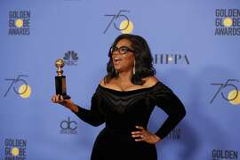 Oprah Winfrey backstage at the 75th Annual Golden Globes at the Beverly Hilton Hotel in Beverly Hills, Calif., on Sunday, Jan. 7, 2018. (Allen J. Schaben/Los Angeles Times/TNS)