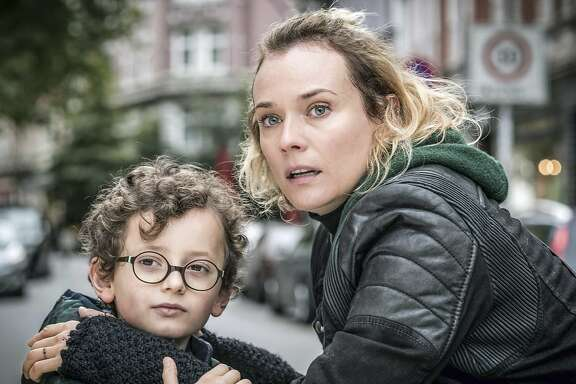 "This image provided by Magnolia Pictures shows, Diane Kruger, right, and Rafael Santana in the film, ""In the Fade,"" a Magnolia Pictures release.  (Magnolia Pictures via AP)"