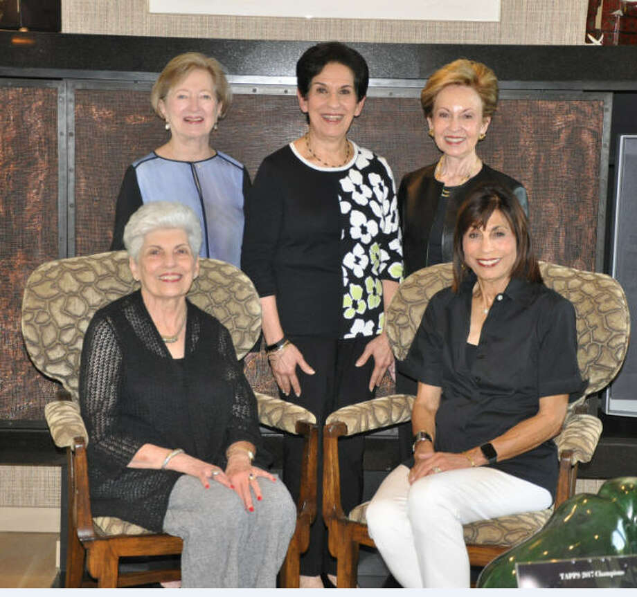 Former presidents of the Houston Chapter of Hadassah, known as The Fab Five, will be honored at Houston Chapter of Hadassah''s Breast Strokes: Hadassah Bares All for A.R.T (Awareness, Research, and Treatment). From left, seated, are: Lynn Goldberg of Tanglewood and Annette Sondock of Meyerland; standing: Barbara Horwitz of Meyerland, Carolyn Plessner of Fondren Southwest and Marlene Rosenthal of Memorial. Photo: Houston Chapter Of Hadassah