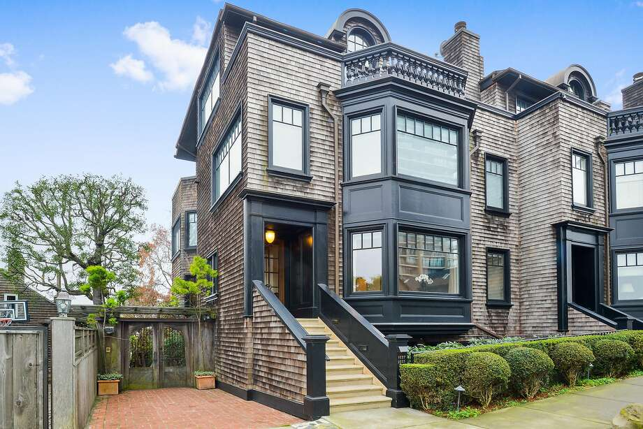 1035 Vallejo St. in Russian Hill is a three-bedroom town house available for $3.95 million. Photo: Daniel Lunghi