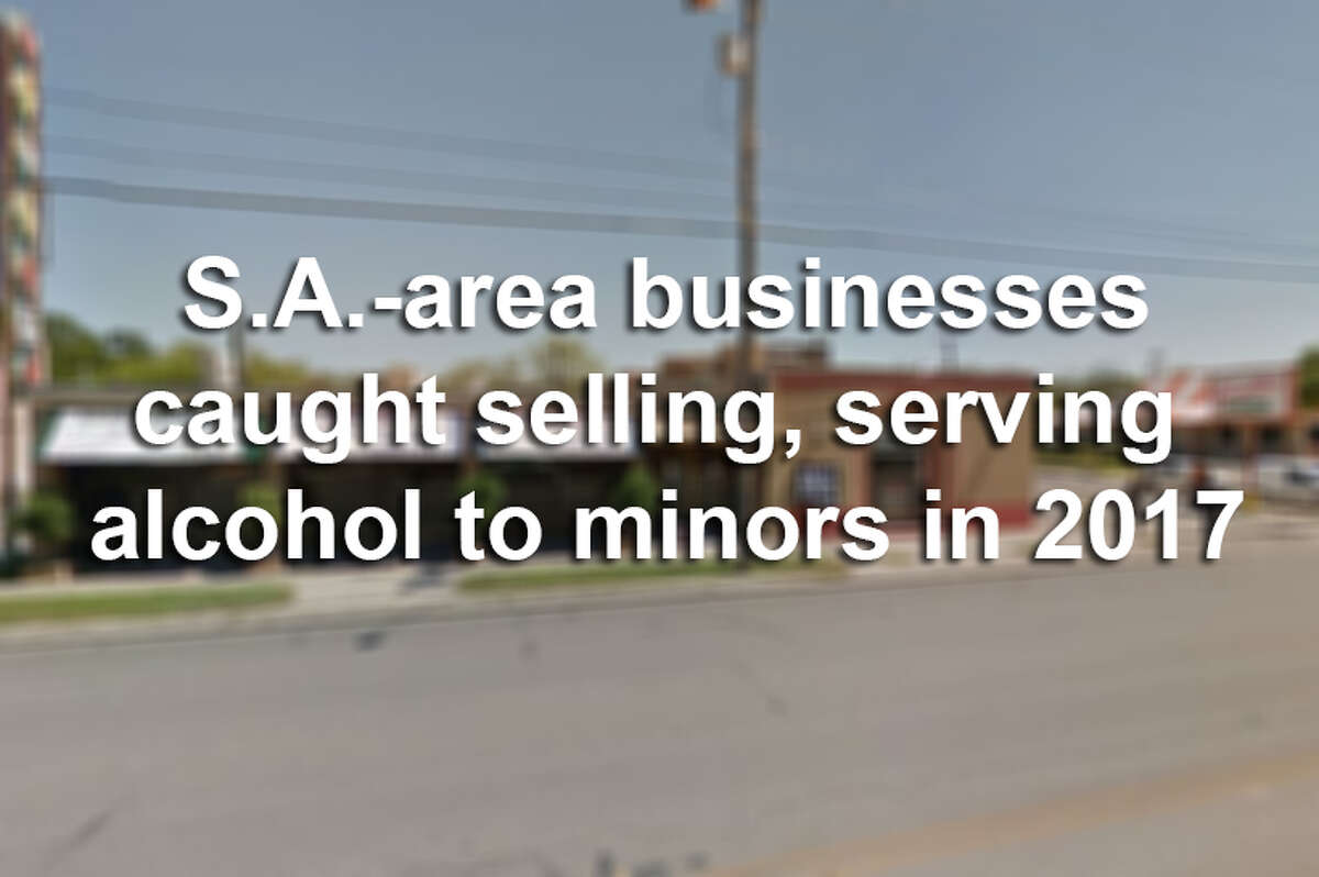 These San Antonio businesses were caught serving or selling alcohol to minors in 2017, according to data from the Texas Alcoholic Beverage Commission.