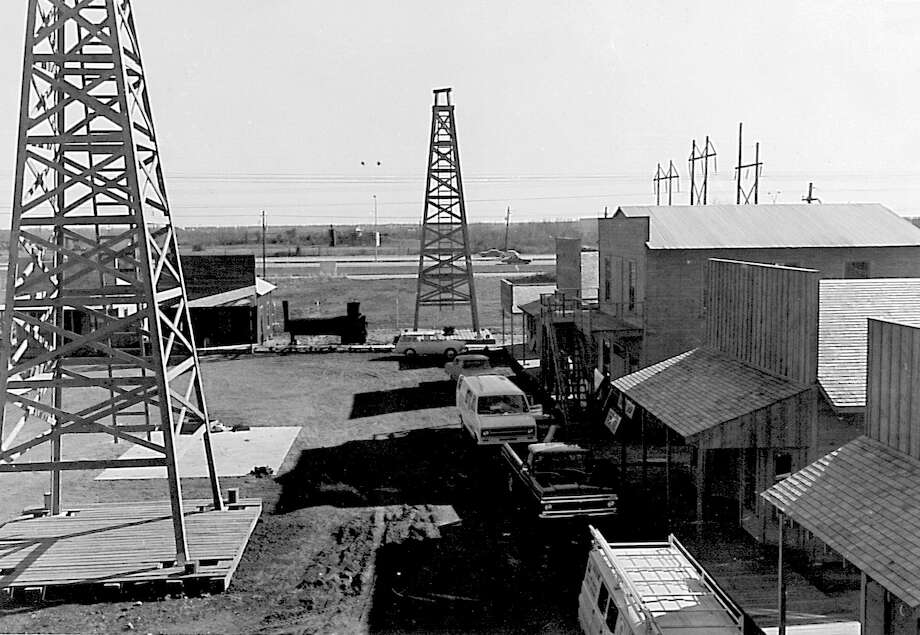 Spindletop Gladys City Boomtown Museum during construction. Enterprise archive photo