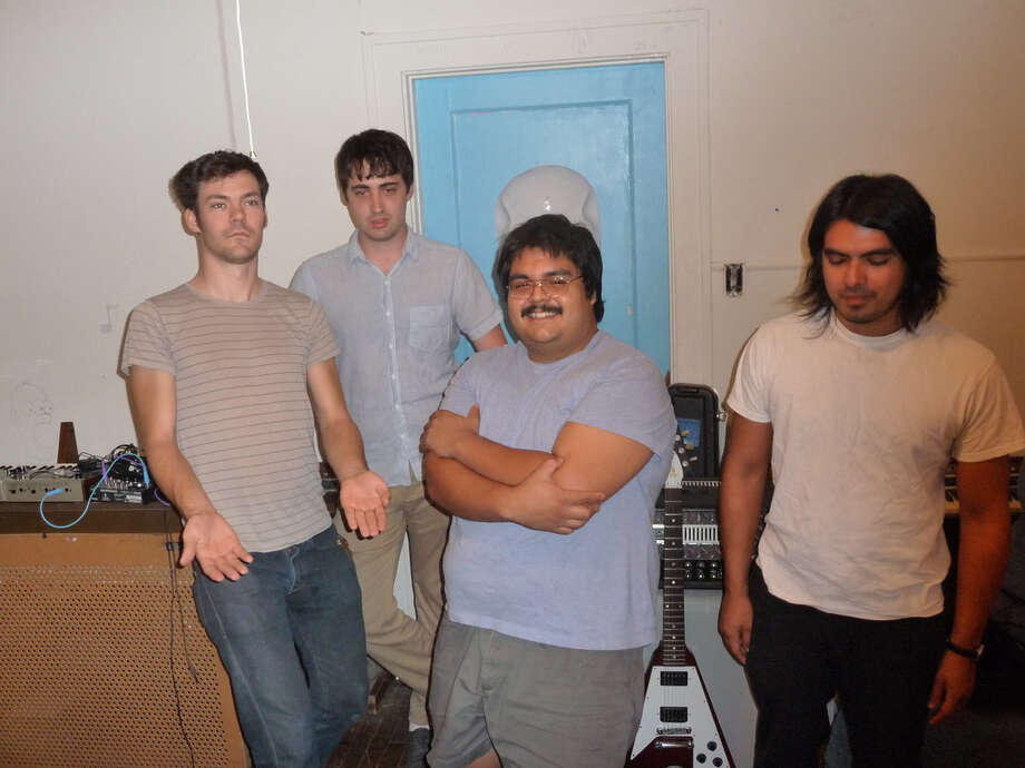 Diego Arcienega (third from left) died Jan. 7 in a car accident in Houston. He played keyboards in the band Giant Princess.