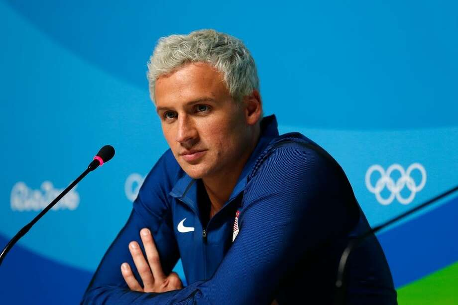 Ryan Lochte's Robbery Lie Ryan Lochte made international headlines during the 2016 Olympic Games, but not for his athletic prowess. The swimmer claimed that he and two of his teammates had been robbed at gunpoint one night in Rio de Janeiro, but it soon became clear that the incident had not occurred. Instead, Lochte had been drunk and vandalized a gas station. Lochte was forced to apologize, and then (maybe) forced to compete on Dancing With the Stars.  Photo: Getty Images