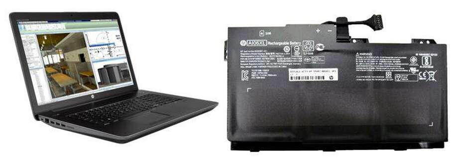 HP is recalling about 50,000 lithium-ion batteries for notebook computers and mobile workstations in the United States because the batteries can overheat, posing fire and burn hazards. Photo courtesy of the Consumer Product Safety Commission. Photo: Contributed / Contributed