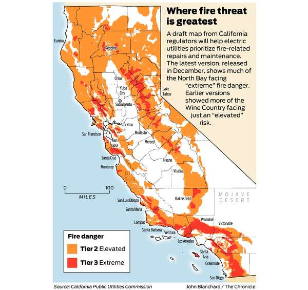 California Fire Threat Map Not Quite Done But Close Regulators Say