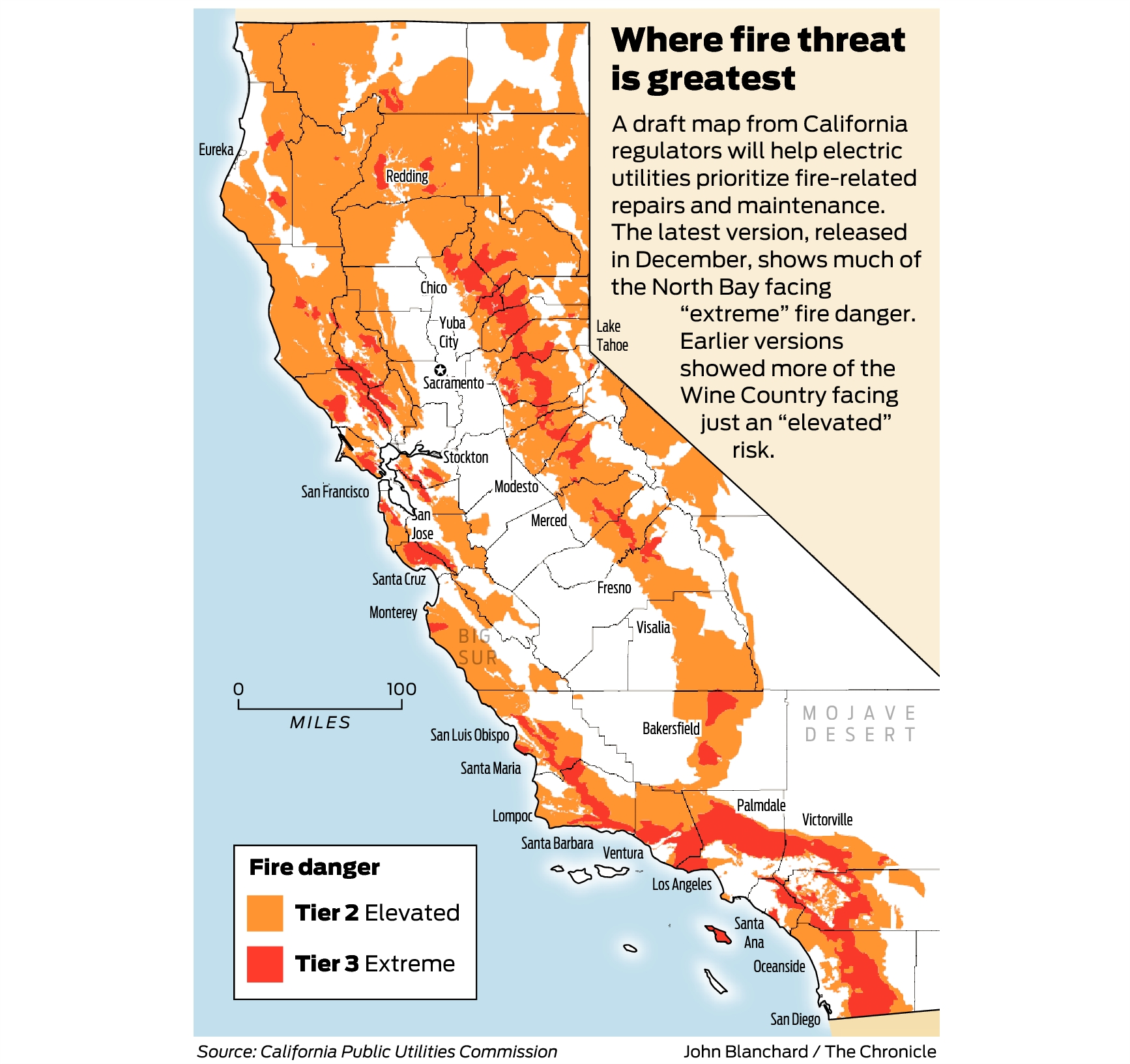Northern California Fire Map 2018.California Fire Threat Map Not Quite Done But Close Regulators Say