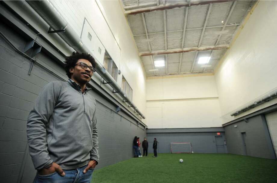 Owner Michael Broncati gives a tour of the new 433 RecPlex, an indoor soccer training facility at 346 Main Street in Norwalk, Conn. on Tuesday, January 9, 2018. Broncati is a former Norwalk High School and college soccer player who also owns Keep Kickin Soccer, a soccer training business that contracts with the City of Norwalk. Photo: Brian A. Pounds / Hearst Connecticut Media / Connecticut Post