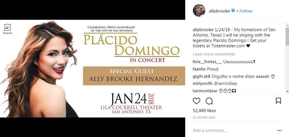 allybrooke: 1/24/18 - My hometown of San Antonio, Texas! I will be singing with the legendary Placido Domingo ! Get your tickets at Ticketmaster.com