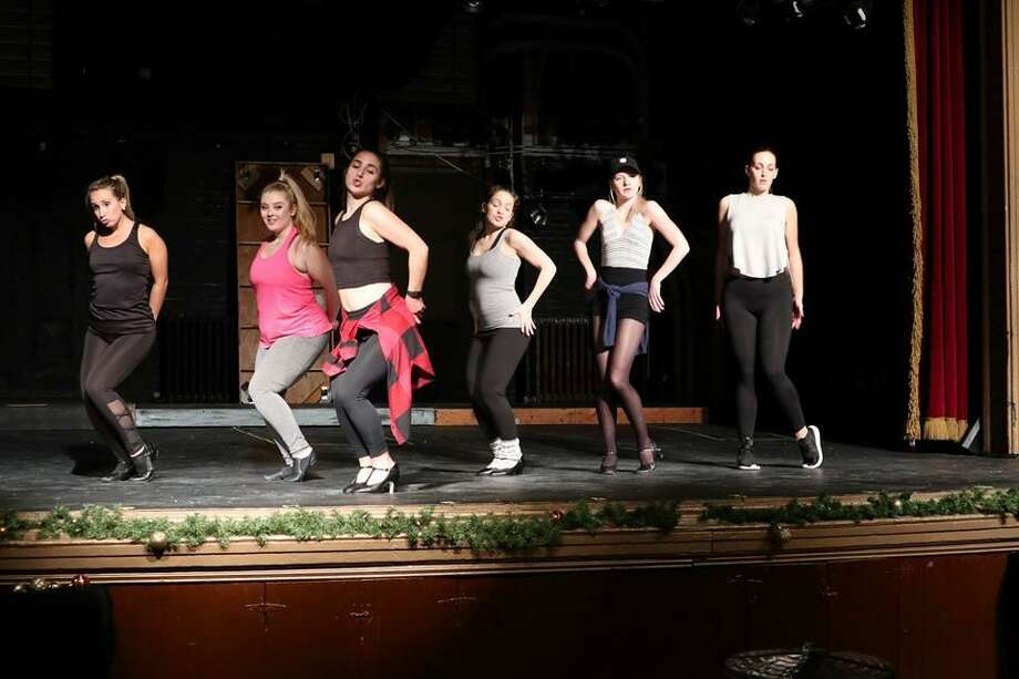 """Opening the 2018 season, Landmark Community Theatre brings the 1998 musical revival, """"Cabaret,"""" to its main stage. Above,Sally and the Kit Kats girls perform """"Don't Tell Mama."""" Photo: Photo By Aaron Westcott"""