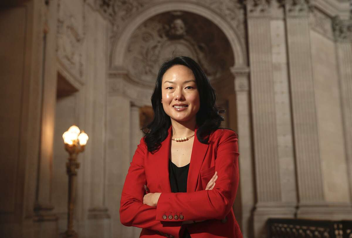 San Francisco Supervisor Jane Kim poses for a portrait inside City Hall in San Francisco., on Fri. January 5, 2018.