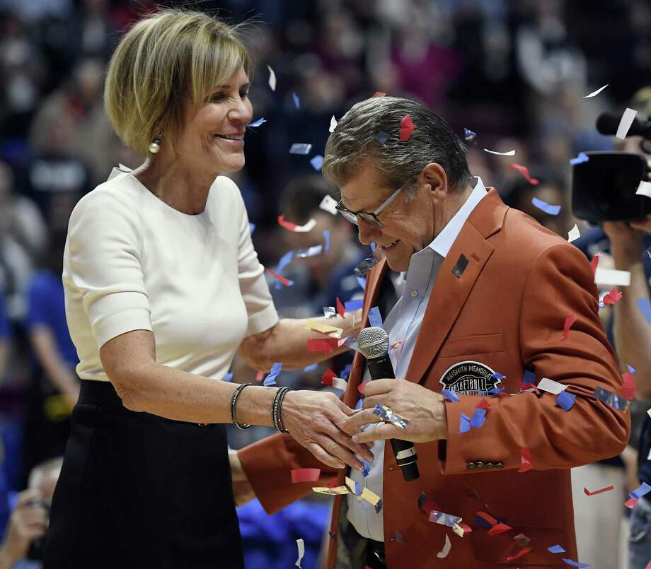 Chris Dailey has been with Geno Auriemma for 11 national championships and more than a 1,000 victories. Photo: Jessica Hill / Associated Press / AP2017