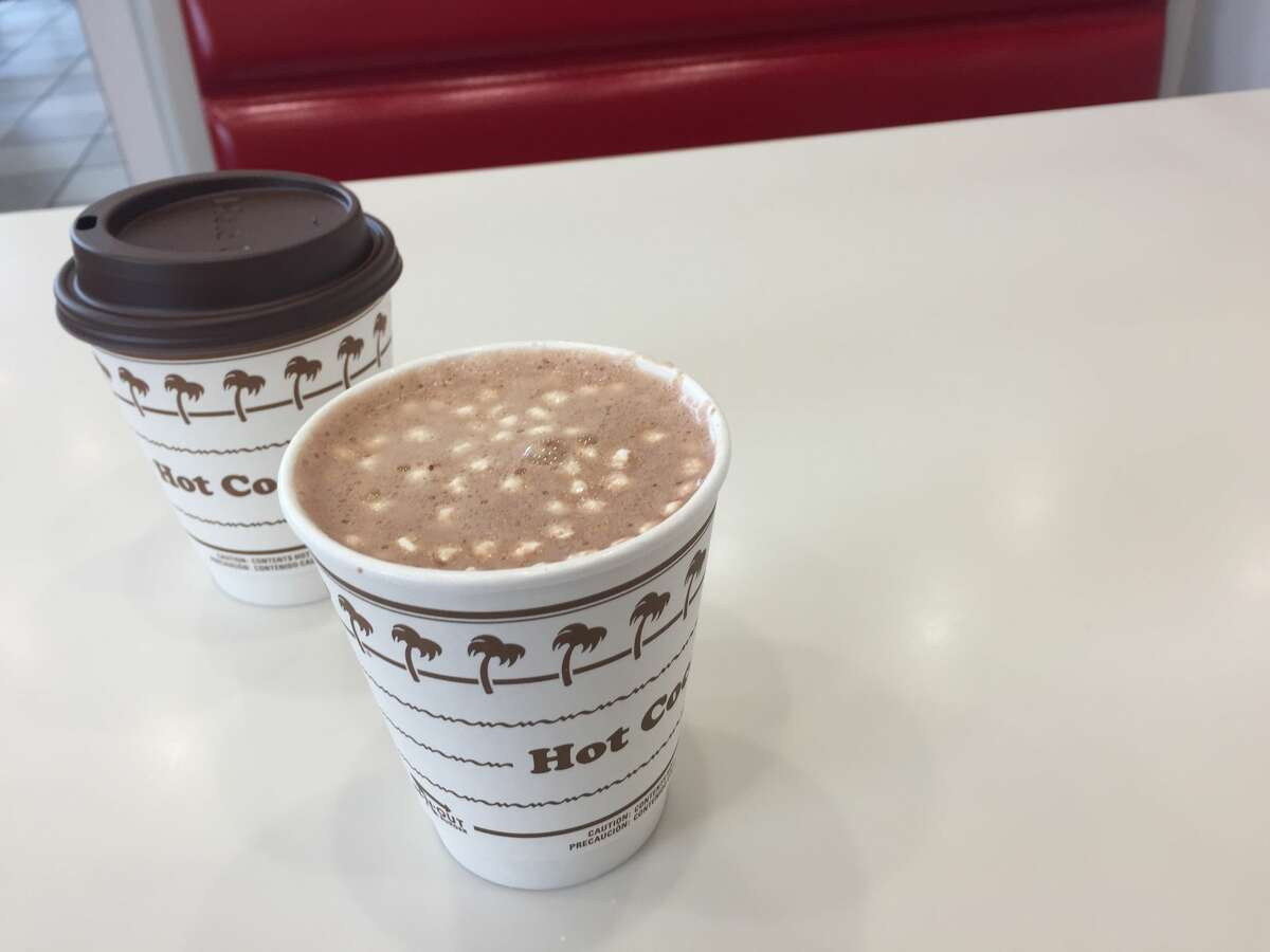 The hot cocoa at In-N-Out Burger.