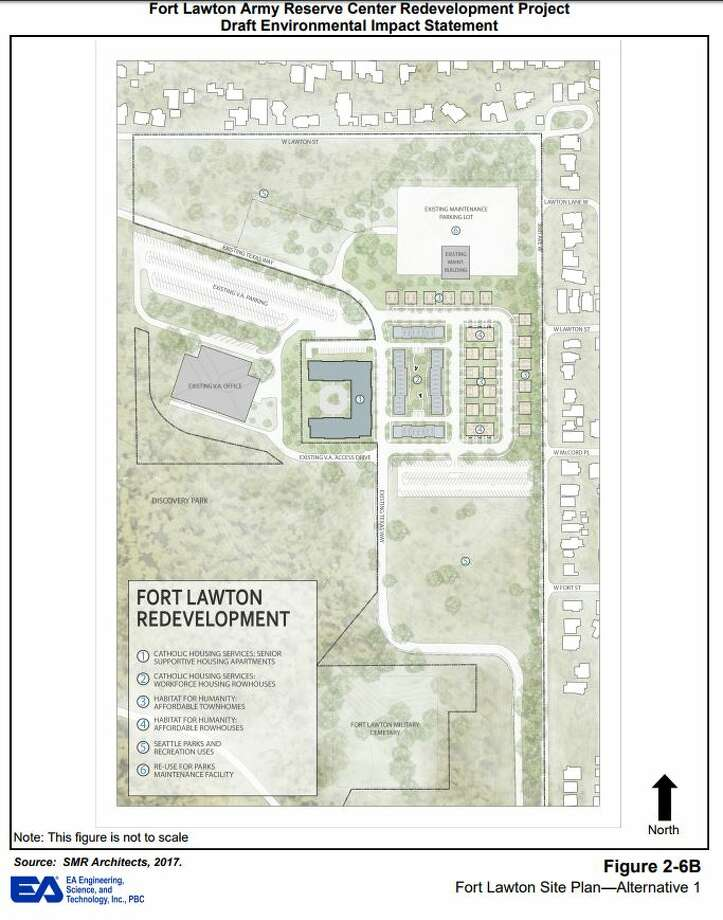 Maps and images from the city of Seattle's draft environmental impact statement for Fort Lawton redevelopment. Photo: City Of Seattle