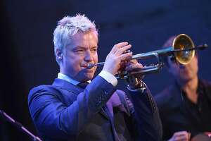 : TrumpeterChris Bottiperforms during the Foundation Fighting Blindness World Gala at Cipriani 42nd Street on April 12, 2016 in New York City. (Photo by Dimitrios Kambouris/Getty Images for Foundation Fighting Blindness)