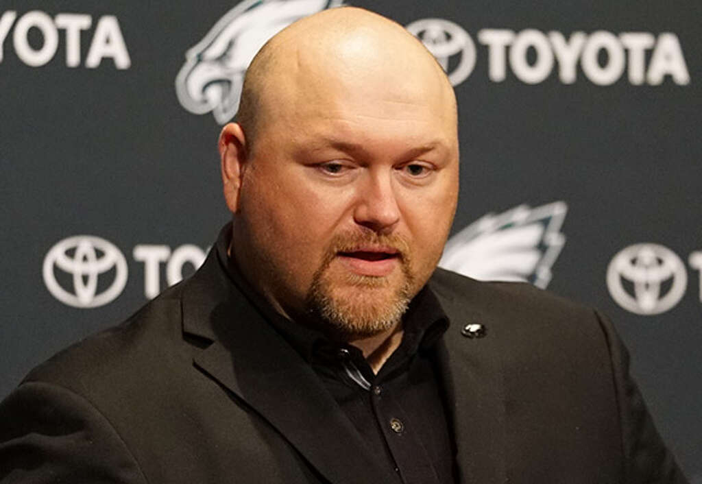 STRONG CANDIDATEJoe Douglas, Eagles' vice president of player personnelDouglas worked his way up from being the person who picked up potential players at the airport to an area scout, then a national scout and eventually the Bears' college scouting director before taking the Eagles' job in 2016. His scouting background is well-respected. Photo: Philadelphia Eagles