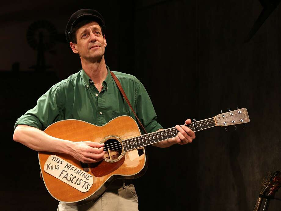 "David M. Lutken stars in ""Woody Sez"" at the Westport Country Playhouse from Jan. 9-20. The production celebrates the music and life of American folk icon Woody Guthrie Photo: Carol Rosegg / Contributed Photo"