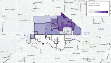 Five maps illustrate Houston's racial-ethnic breakdown by ... Demographic Map Of Houston on