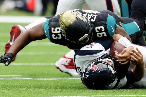 In September's season opener at NRG Stadium, defensive tackle Calais Campball gave Texans QB Tom Savage a taste of how ferocious the Jaguars' defense can be in a 29-7 Jacksonville victory. The Jags won the December rematch 45-7.