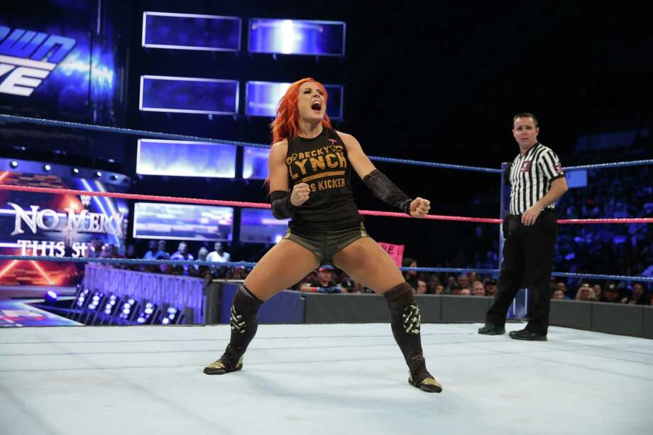 As part of the Women's Revolution in WWE, Becky Lynch has been a part of a few firsts in women's wrestling. She and 29 others will make more history later this month in Philadelphia competing in the first-ever women's Royal Rumble match with a championship match at WrestleMania 34 on the line. Photo: Courtesy Of World Wrestling Entertainment