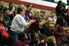 Silsbee fans cheer on the boys' basketball team against Hardin-Jefferson at Hardin-Jefferson High School on Tuesday evening.  Photo taken Tuesday 1/9/18 Ryan Pelham/The Enterprise