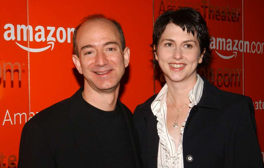 Jeff Bezos, CEO of Amazon and wife Mackenzie Bezos (Photo by Jean-Paul Aussenard/WireImage)MacKenzie and Jeff first met at investment management firm D.E. Shaw. MacKenzie was a research associate and Jeff was a vice president. Jeff was the first person to interview MacKenzie — a fellow Princeton grad — at the firm. Photo: Jean-Paul Aussenard/WireImage