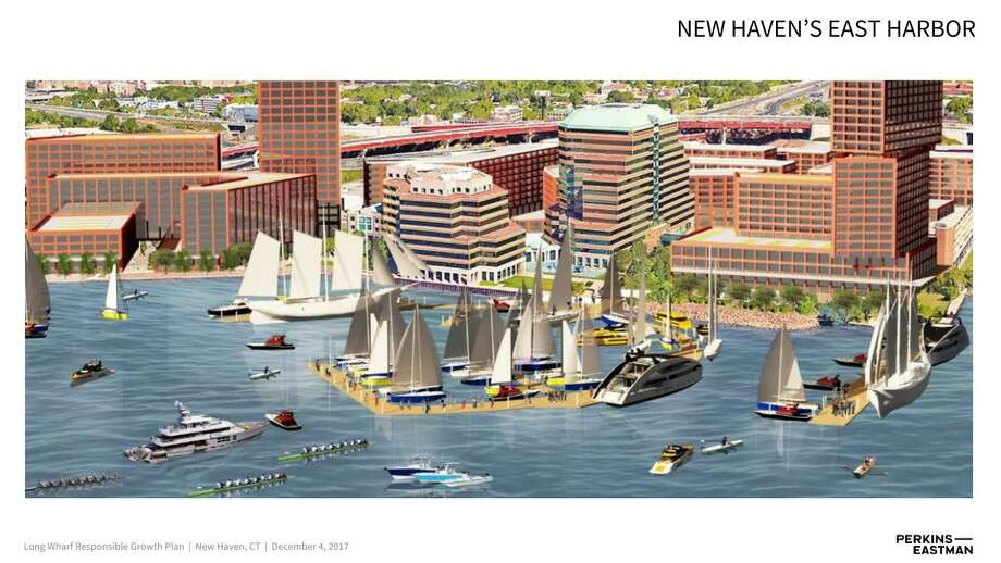 Rendering of New Haven's East Harbor Photo: Perkins Eastman