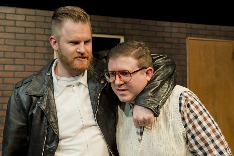 Mark Kaufman as Orin Serivello and Danny Anderson as Seymour in MCT's production of Little Shop of Horrors. 01/09/18 Tim Fischer/Reporter-Telegram Photo: Tim Fischer/Midland Reporter-Telegram