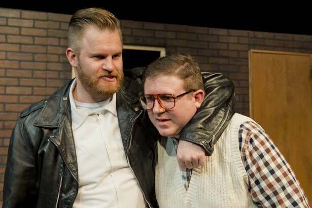 Mark Kaufman as Orin Serivello and Danny Anderson as Seymour in MCT's production of Little Shop of Horrors. 01/09/18 Tim Fischer/Reporter-Telegram