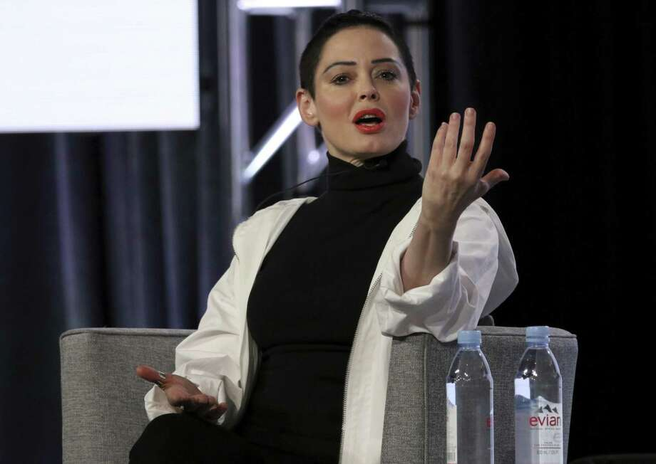 "Rose McGowan participates in the ""Citizen Rose"" panel during the NBCUniversal Television Critics Association Winter Press Tour in Pasadena, Calif. Photo: Willy Sanjuan /Associated Press / 2018 Invision"