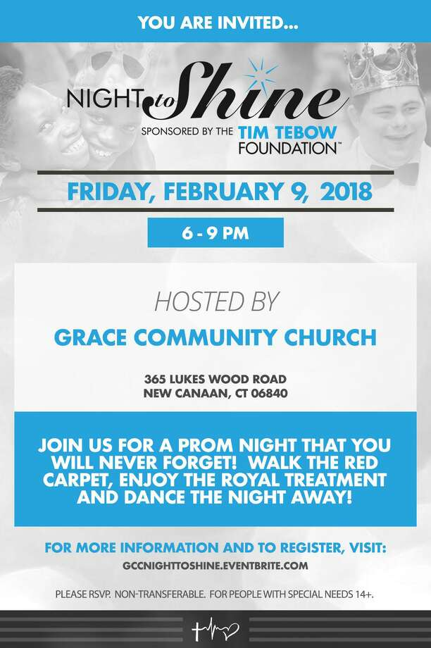 "The Tim Tebow Foundation has once again selected Grace Community Church in New Canaan, collaborating with STAR, Inc., Lighting the Way, to be one of over 550 locations in 16 countries to host simultaneously an unforgettable prom night for young adults with disabilities and their ""buddy"" peers from 6-9 p.m. Friday, Feb. 9. Photo: Contributed Image"