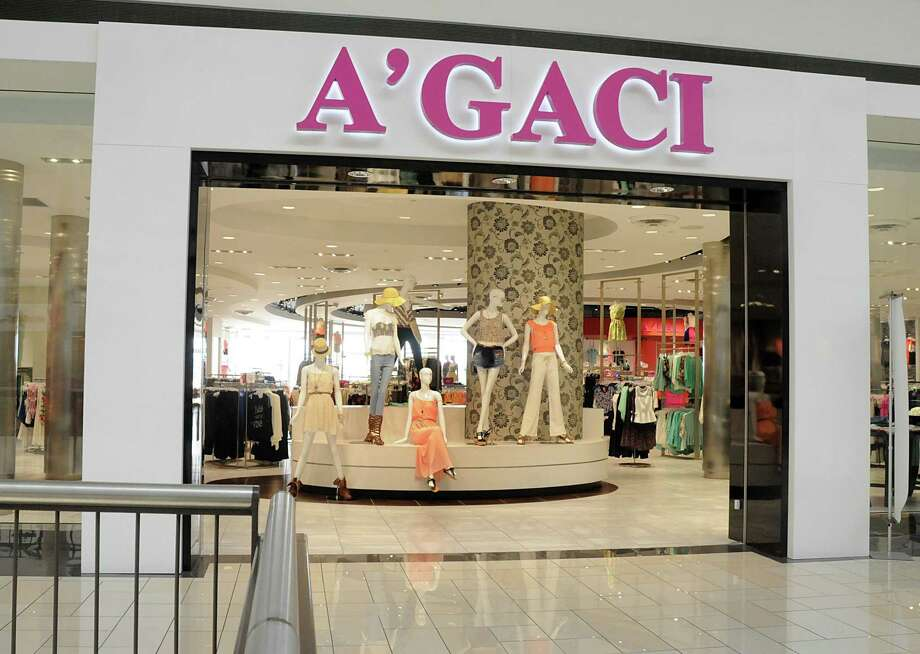 A bankruptcy judge confirmed women's apparel retailer A'Gaci's bankruptcy reorganization plan Thursday. Pictured is a mannequin display at the entrance to the A'Gaci store at Deerbrook Mall in Houston. Photo: David Hopper /Contributor / freelance
