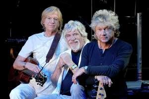 The Moody Blues, from left Justin Hayward, Graeme Edge and John Lodge.