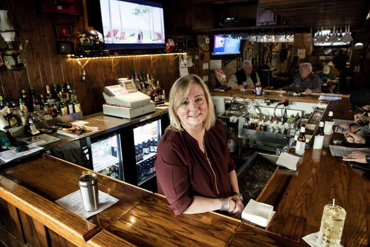 Margie Beard, bartender at Luling City Market BBQ, poses for a portrait on Friday, Jan. 5, 2018, in Houston. ( Brett Coomer / Houston Chronicle )