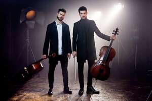 Luka Šulic, right, and Stjepan Hauser of 2Cellos, have rescheduled their Houston performance for Wednesday, Jan. 17 at Jones Hall, presented by Society for the Performing Arts.