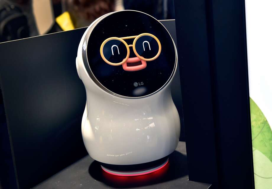 LG's CLOi personal assistant robot is displayed during CES 2018 at the Las Vegas Convention Center on January 9, 2018 in Las Vegas, Nevada. CES, the world's largest annual consumer technology trade show, runs through January 12 and features about 3,900 exhibitors showing off their latest products and services to more than 170,000 attendees. Photo: David Becker/Getty Images