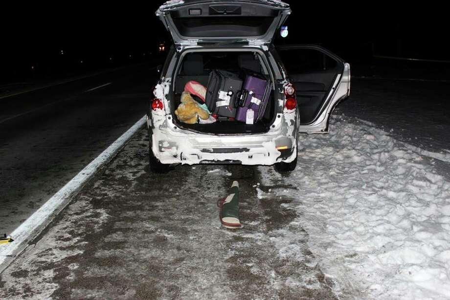 A silver Chevrolet Equinox was found by an Ionia County Sheriff's Deputy on Jan. 6 with a gunshot victim, Amedy Dewey, near her deceased mother and stepfather. (Photo courtesy of Ionia County Sheriff Office)