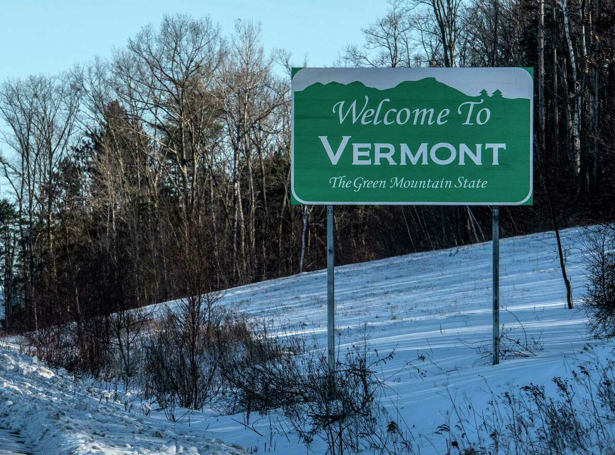 Vermont's will not be happy to see you if you don't quarantine after arriving from one of many New York counties where coronavirus cases have surged. This welcome sign at the state line between New York and Vermont Wednesday Jan 10, 2018 Hoosick Falls, N.Y. (Skip Dickstein/ Times Union)