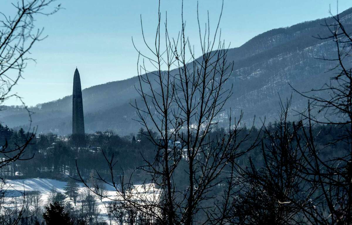 The Bennington Monument stands apart from the mountains Wednesday Jan 10, 2018 in Bennington, Vermont. (Skip Dickstein/ Times Union)