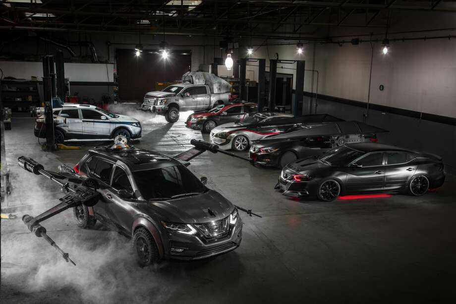 Nissan unveiled six Star Wars-themed show vehicles at the Los Angeles Auto Show in celebration of the brand's ongoing collaboration with Lucasfilm for Star Wars: The Last Jedi. Now, a few of the models are coming to the Bayou City for the Houston Auto Show. Photo: Nissan