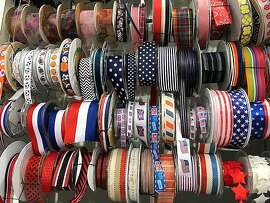 Need a ribbon for a July 4 sunbonnet? Britex has it