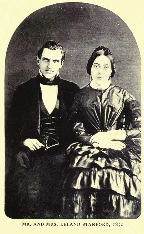 A portrait of Jane and Leland Stanford from 1850. Photo: Public Domain