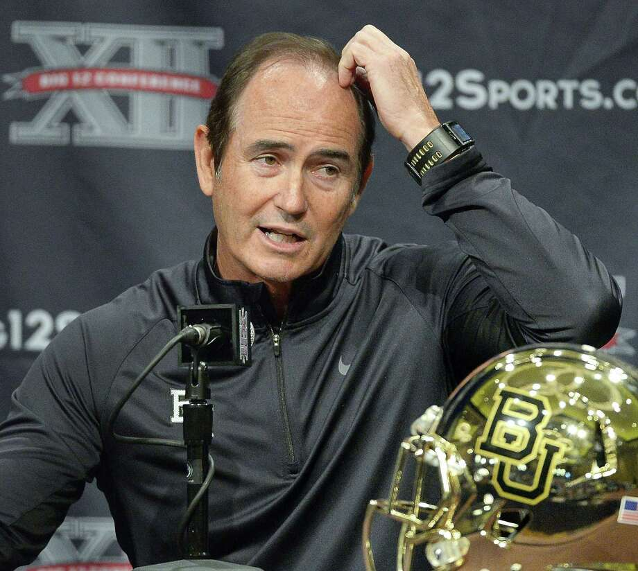 As Baylor's head coach Art Briles, talks with reporters at the Big 12 media day at the Omni Hotel in Dallas on July 23, 2013. (Max Faulkner/Fort Worth Star-Telegram/TNS) Photo: Max Faulkner, FILE / TNS / Fort Worth Star-Telegram