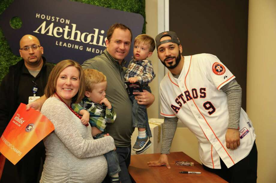 Houston Astros player Marwin Gonzales stopped by to meet families and sign autographs, along with Orbit, the Astros mascot as Houston Methodist West Hospital recently celebrated its first ever Neonatal Intensive Care Unit (NICU) reunion. Photo: Courtesy Photo